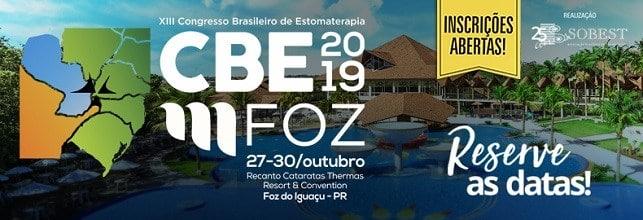 Capa Evento SOBEST Congresso Brasileiro Estomaterapia 2019 Foz do Iguaçu