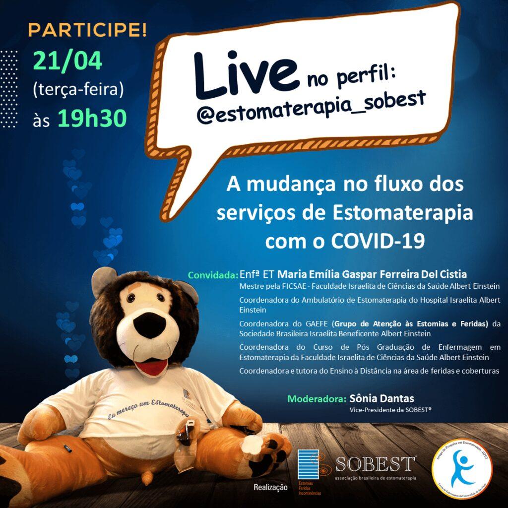 """Live """"A mudança  no fluxo dos serviços de Estomaterapia com o COVID-19"""""""