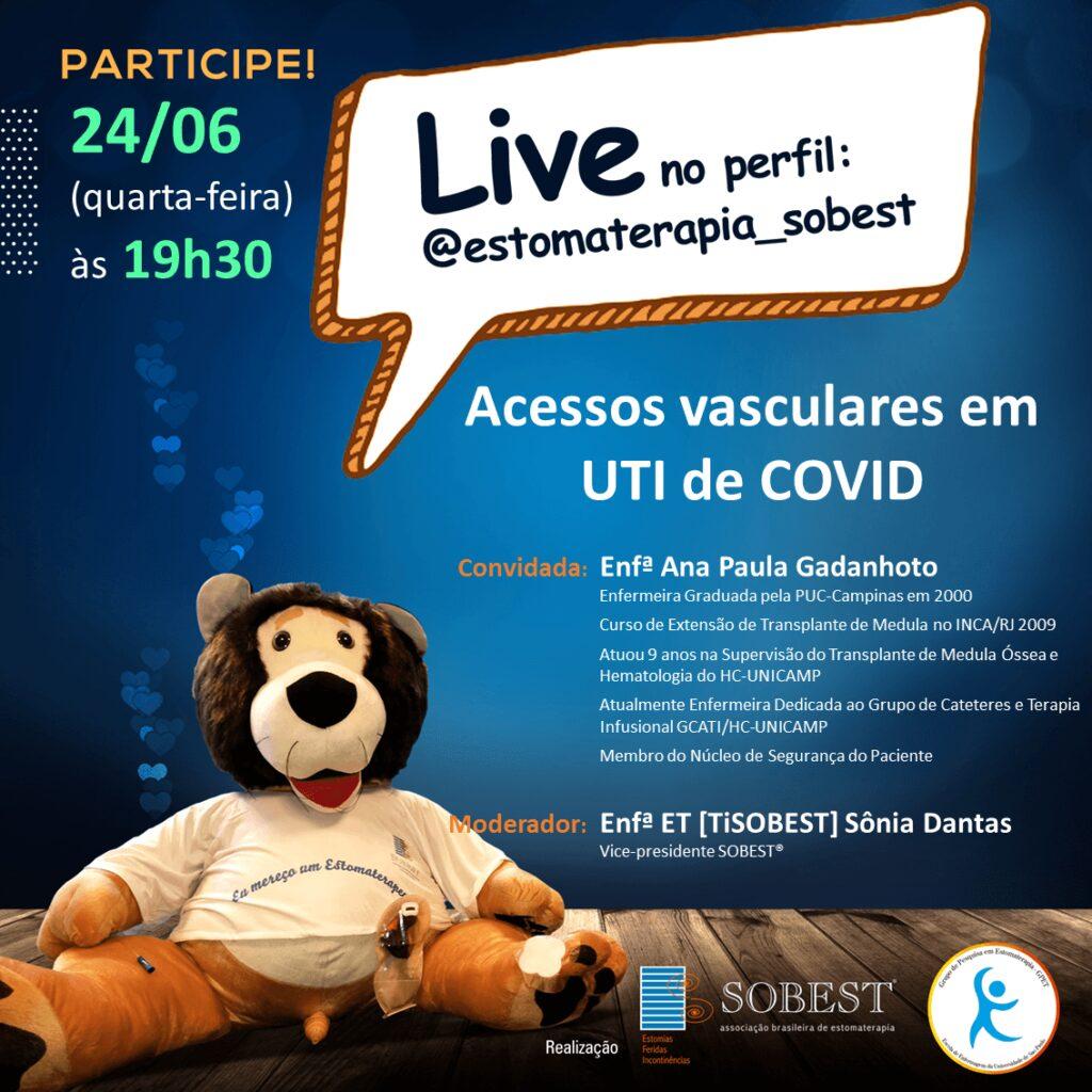 """Live """"Acessos vasculares em UTI de COVID"""""""