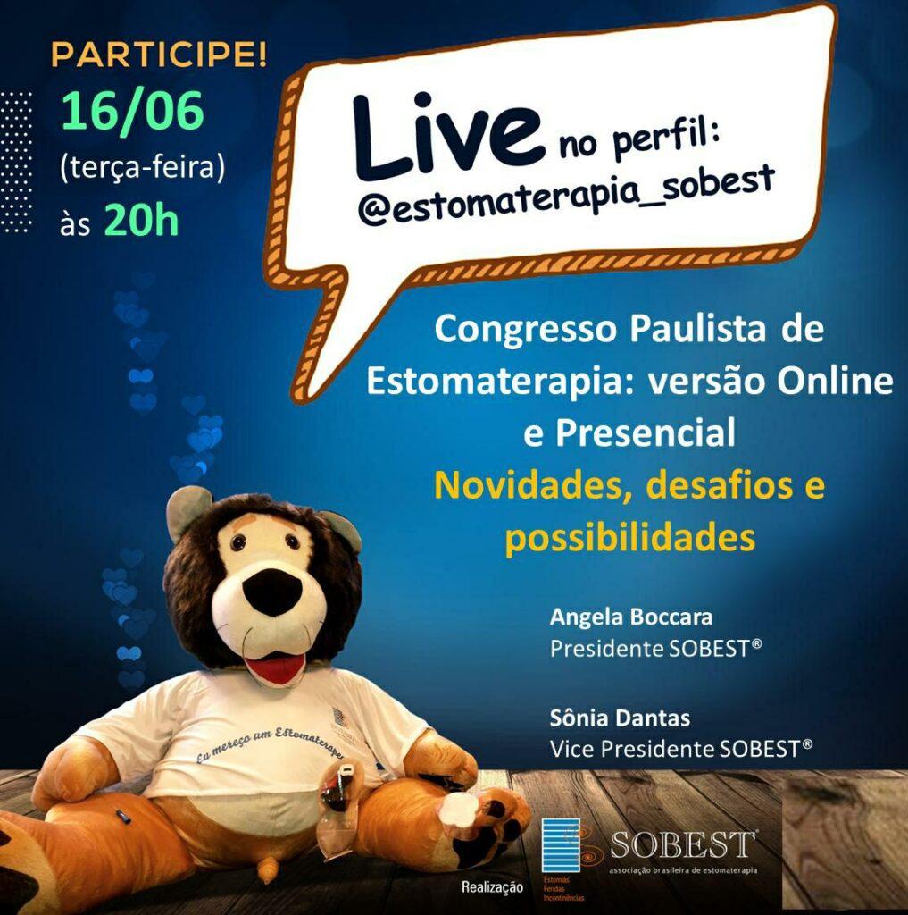 """Live """"Congresso Paulista de Estomaterapia: online e presencial"""""""