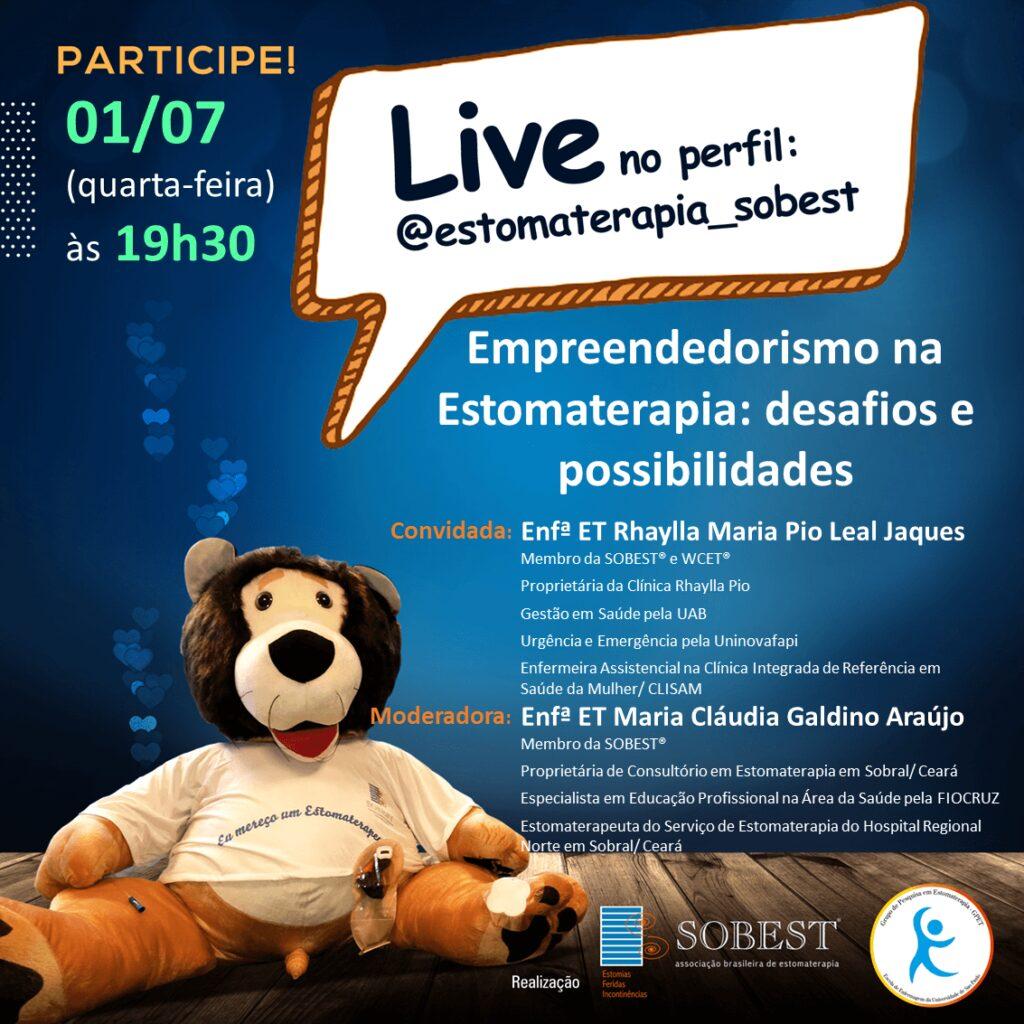 """Live """"Empreendedorismo na estomaterapia: desafios e possibilidades"""""""