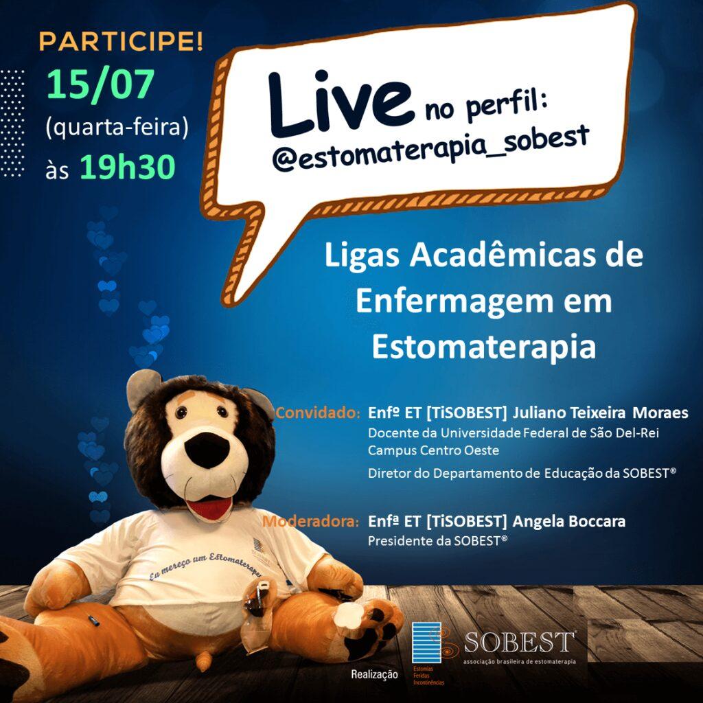 """Live """"Ligas Acadêmicas em Estomaterapia"""""""