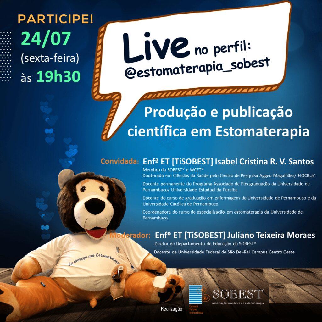 """Live """"Produção e Publicação cientifica em estomaterapia"""""""