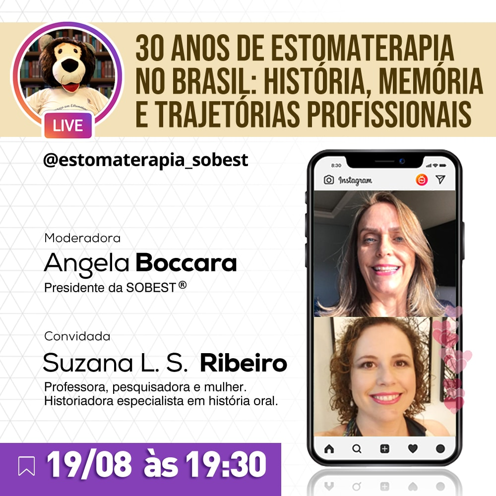 """Live """"30 anos de Estomaterapia no Brasil: História, memória e Trajetórias Profissionais"""""""