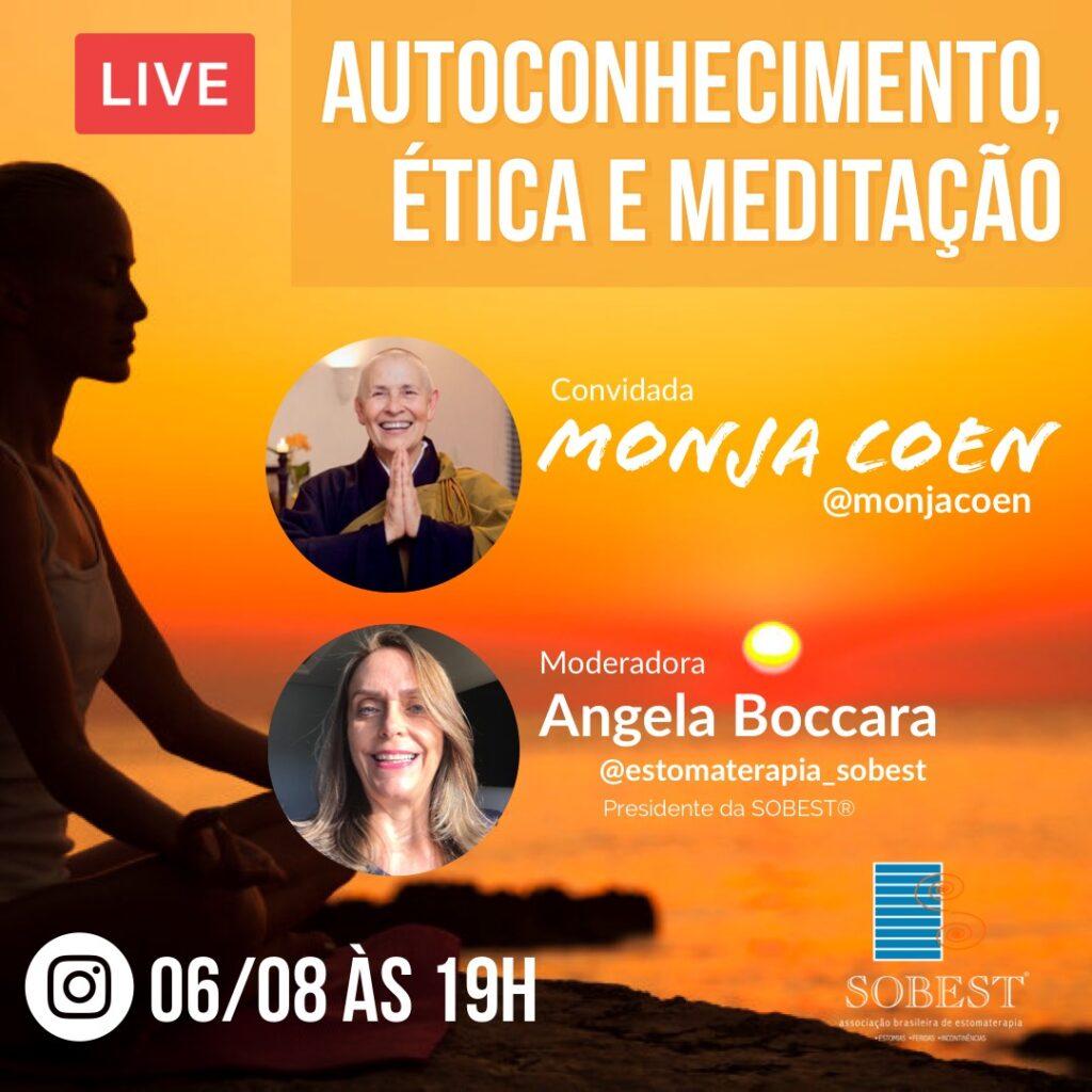 """Live """"Autoconhecimento, ética e meditação 19h"""""""