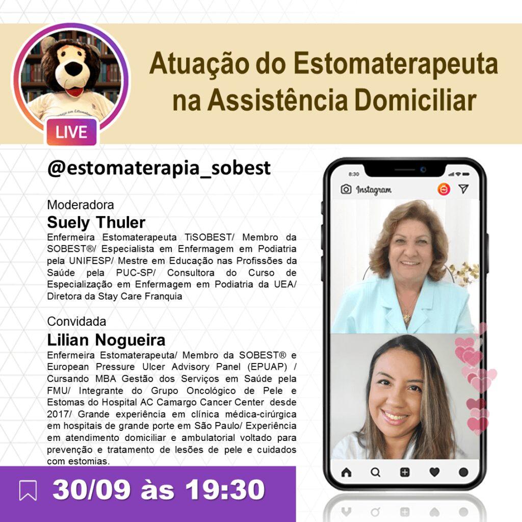 """Live """"Atuação do Estomaterapeuta na Assistência Domiciliar"""""""