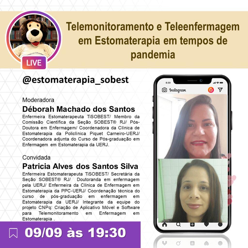 """Live """"Telemonitoramento e Teleenfermagem em Estomaterapia em tempos de pandemia"""""""