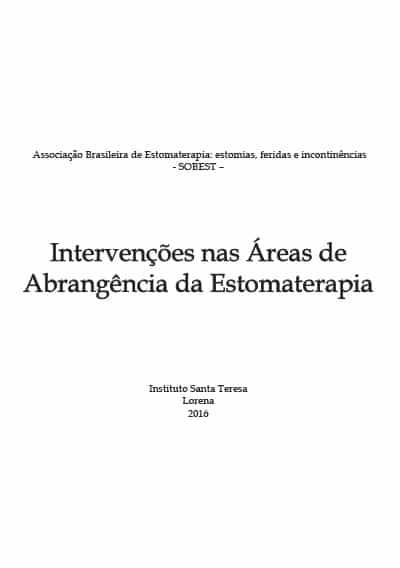 Capa do Livro Intervenções nas áreas de abrangência da Estomaterapia