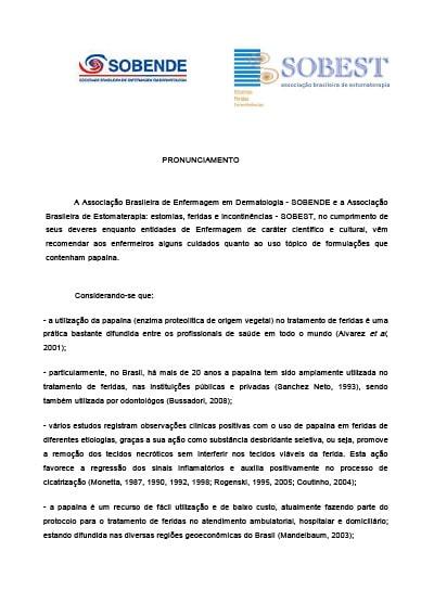Capa do Livro Pronunciamento Papaina