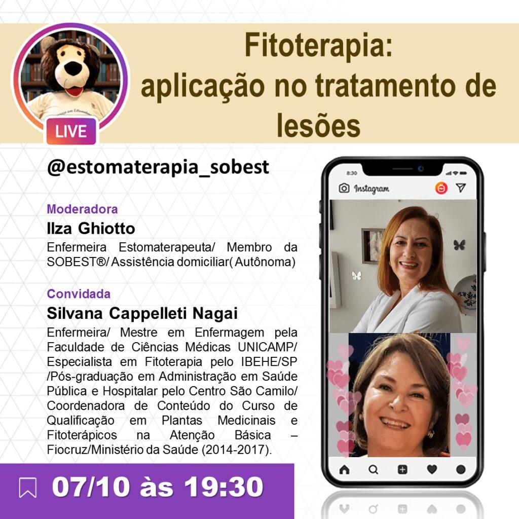 """Live """"Fitoterapia:aplicação no tratamento de lesões"""""""
