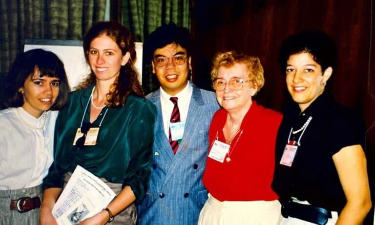 Congresso da International Ostomy Association, no Rio de Janeiro em 1991.