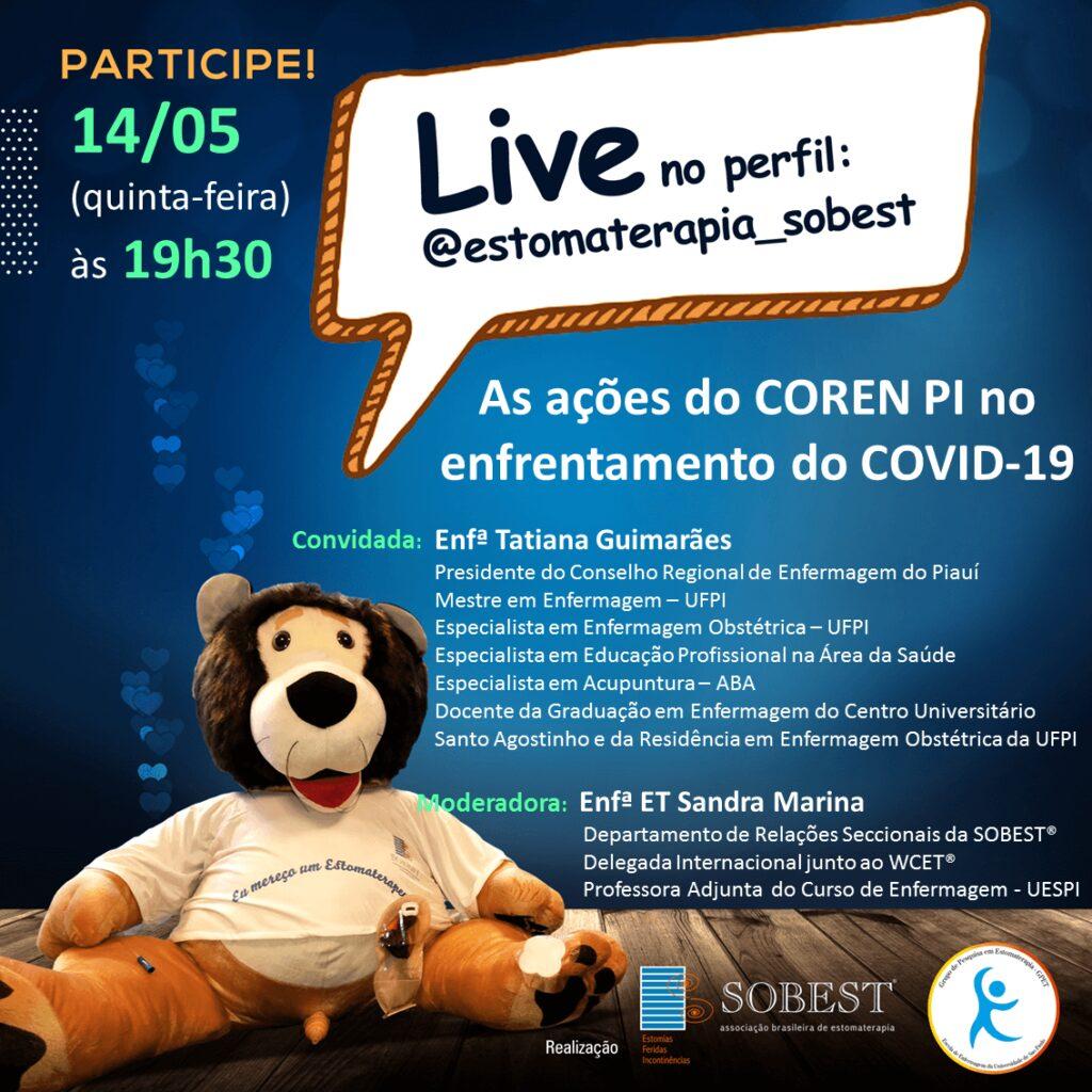 """Live """"As ações do COREN PI no enfrentamento do COVID-19"""""""