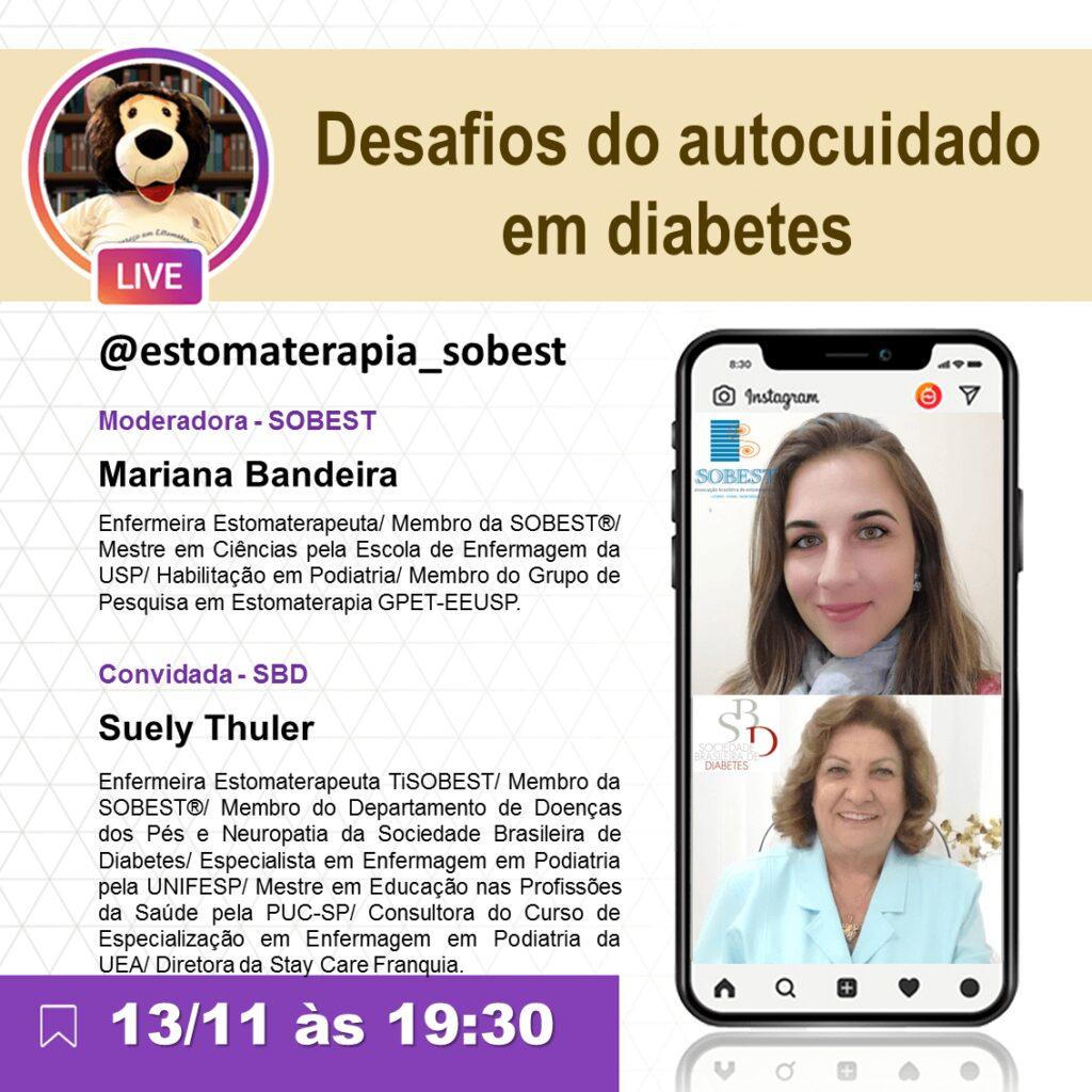"""Live """"Desafios do autocuidado em diabetes"""""""