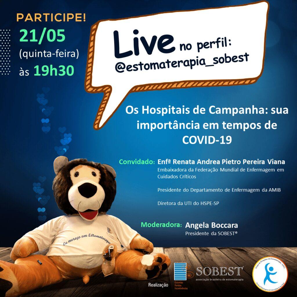 """Live """"Os hospitais de Campanha: sua importância em tempos de COVID-19"""""""
