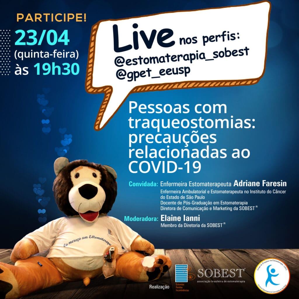 """Live """"Pessoas com traqueostomias: precauções relacionadas ao COVID-19"""""""
