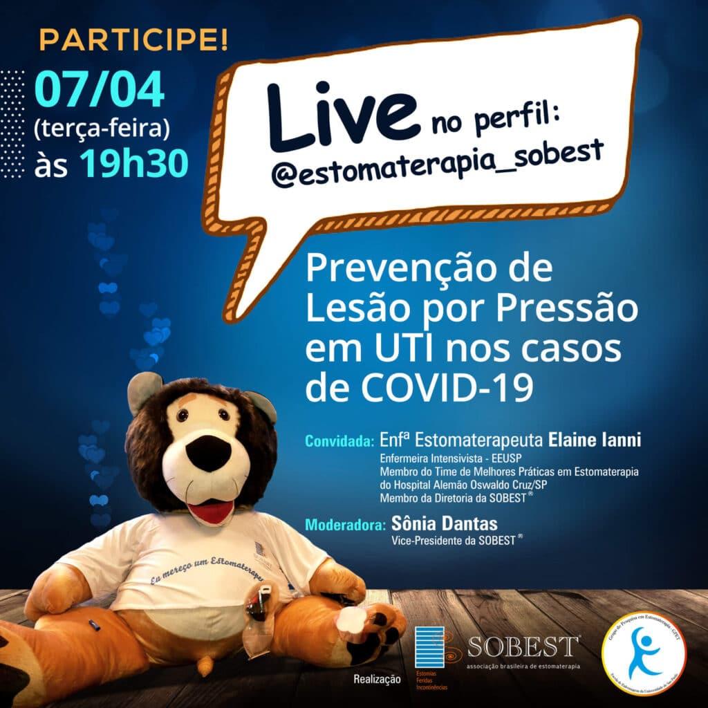 """Live """"Prevenção de Lesão por Pressão em UTI nos casos COVID-19"""""""