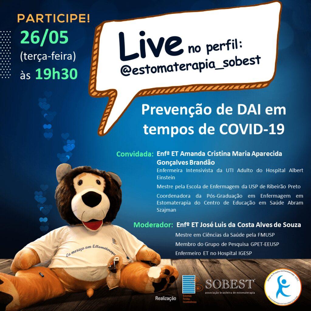"""Live """"Prevenção de DAI em tempos de COVID-19"""""""