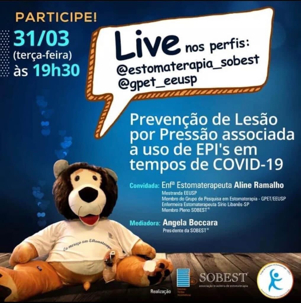 """Live """"Prevenção de Lesão por Pressão associada a uso de EPI's em tempos de COVID-19"""""""