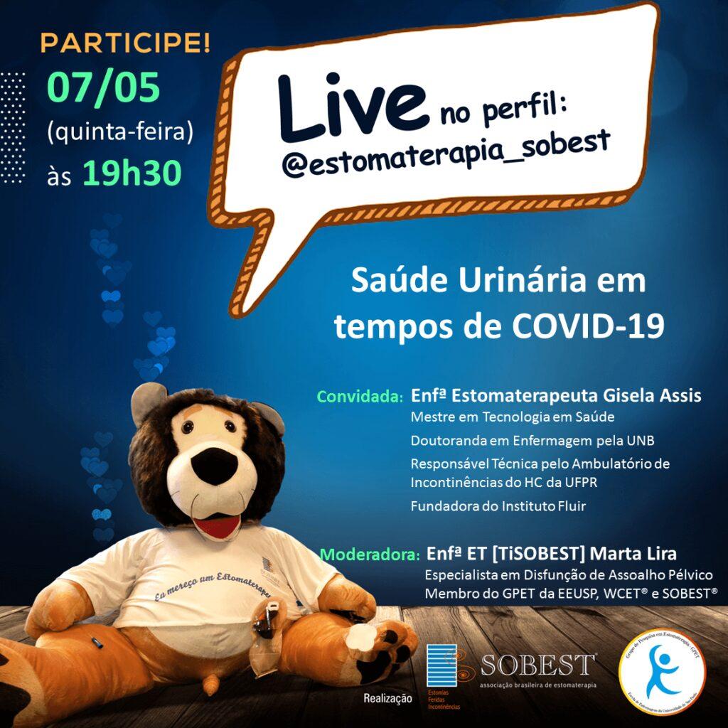 """Live """"Saúde Urinária em tempos de COVID-19"""""""