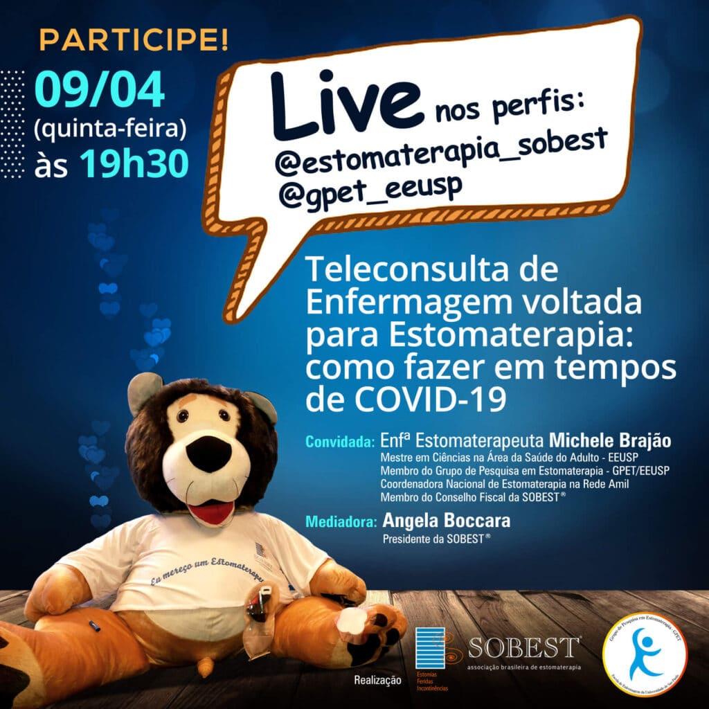 """Live """"Teleconsulta de Enfermagem voltada para Estomaterapia: como fazer em tempos de COVID-19"""""""