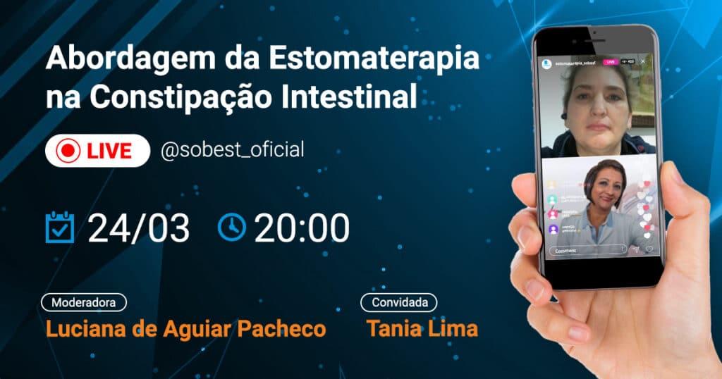 Banner Evento SOBEST Live no Instagram Abordagem da Estomaterapia na Constipação Intestinal