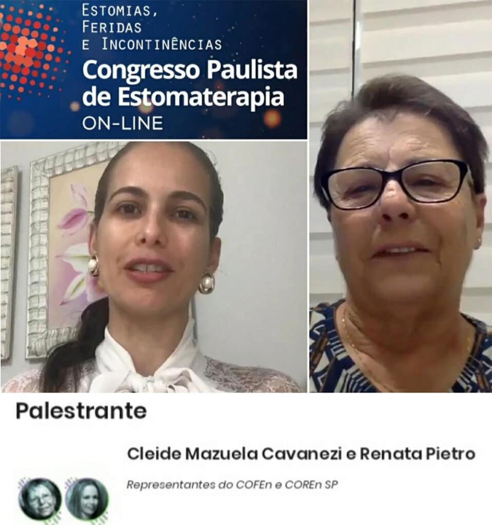 Evento apoiado pela SOBEST - Palestras de Cleide Mazuela e Renata Pietro no Congresso Paulista de Estomaterapia