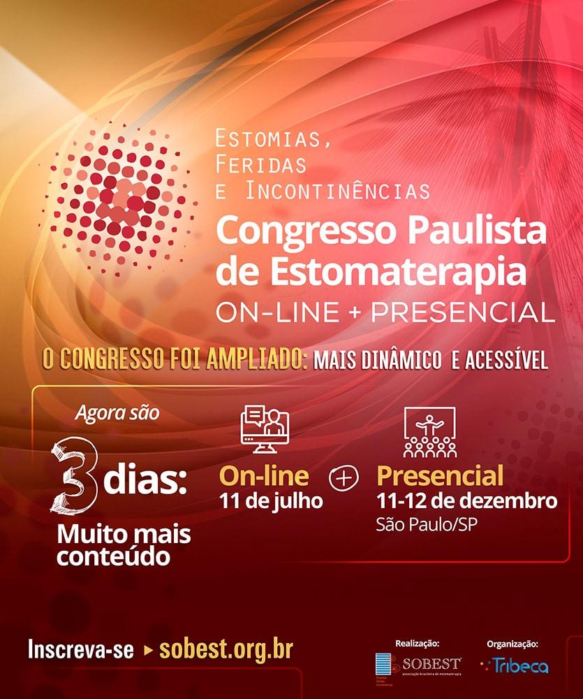 Congresso Paulista de Estomaterapia On-Line e Presencial