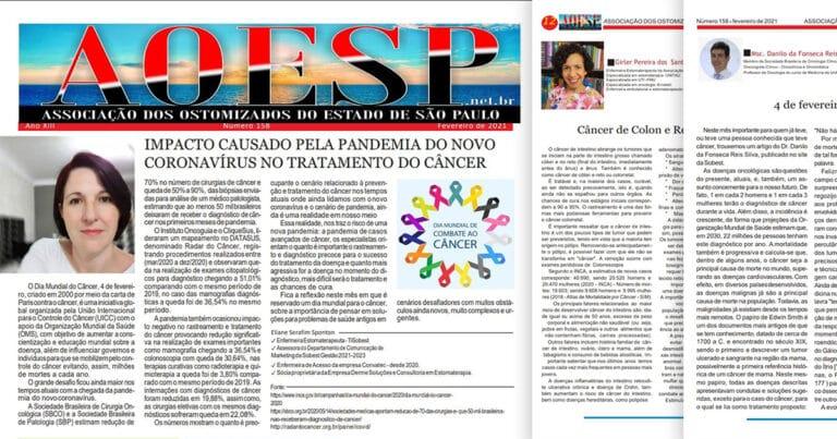 Enfermeiros SOBEST falam sobre Dia Mundial do Câncer na AOESP de fevereiro nº 158