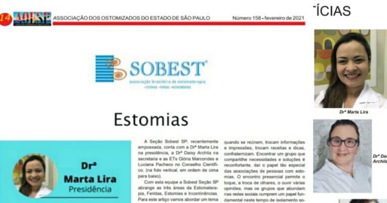 Edição 158 do Jornal AOESP lauda seção SOBEST apresentando à comunidade