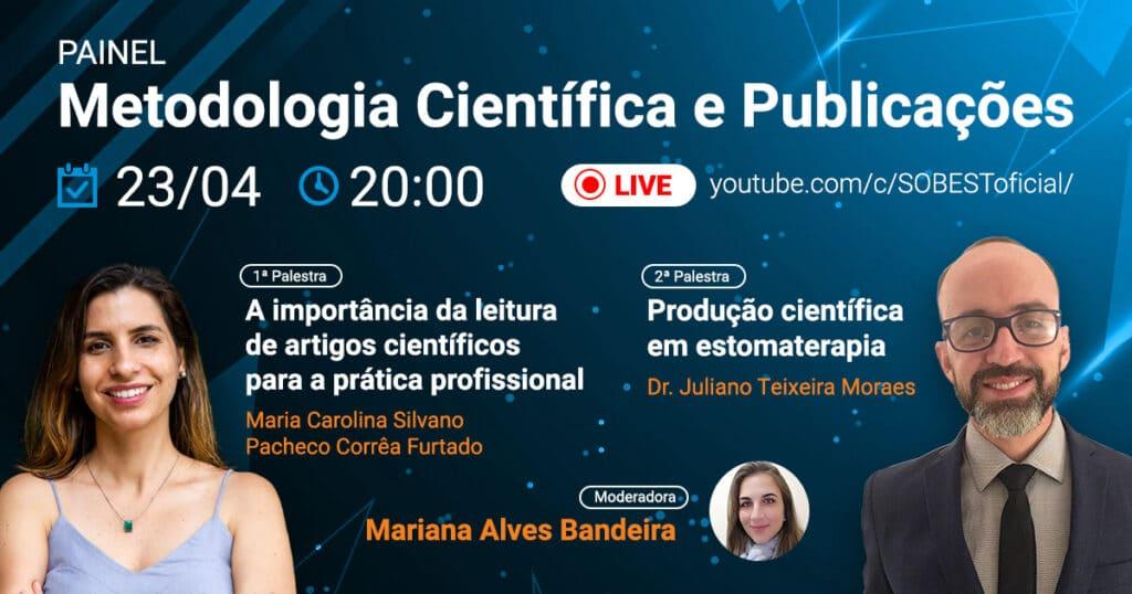 banner Live SOBEST Youtube Metodologia Científica e Publicações