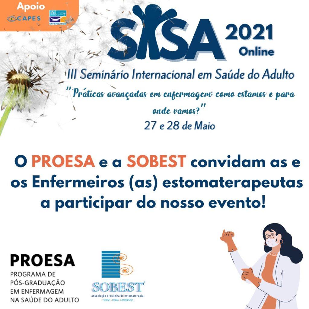 Evento Apoio SOBEST III Seminário Internacional em Saúde do Adulto - SISA 2021