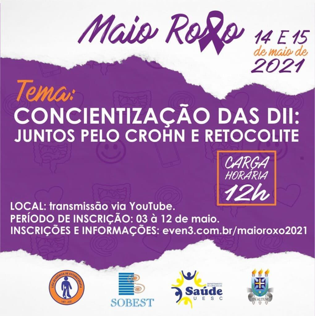 Evento Apoio SOBEST Maio Roxo Conscientização das DII: Juntos pelo Crohn e Retocolite