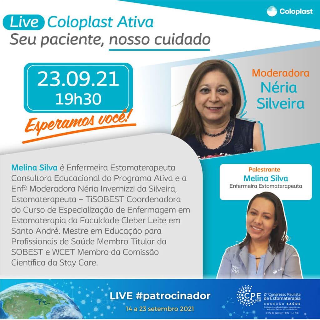 Live #patrocinador CPE2021 com a empresa COLOPLAST