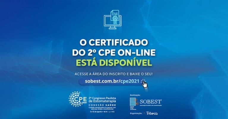 Certificado do 2º CPE On-line já está disponível!
