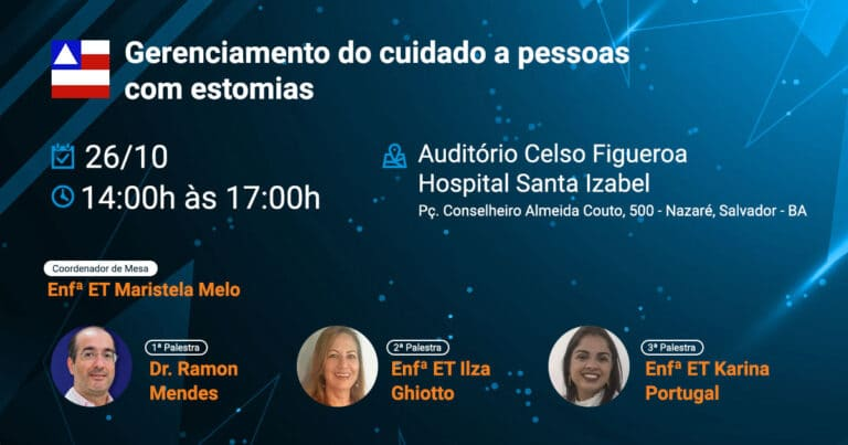 Reunião Científica SOBEST Seção Bahia - Gerenciamento do cuidado a pessoas com estomias