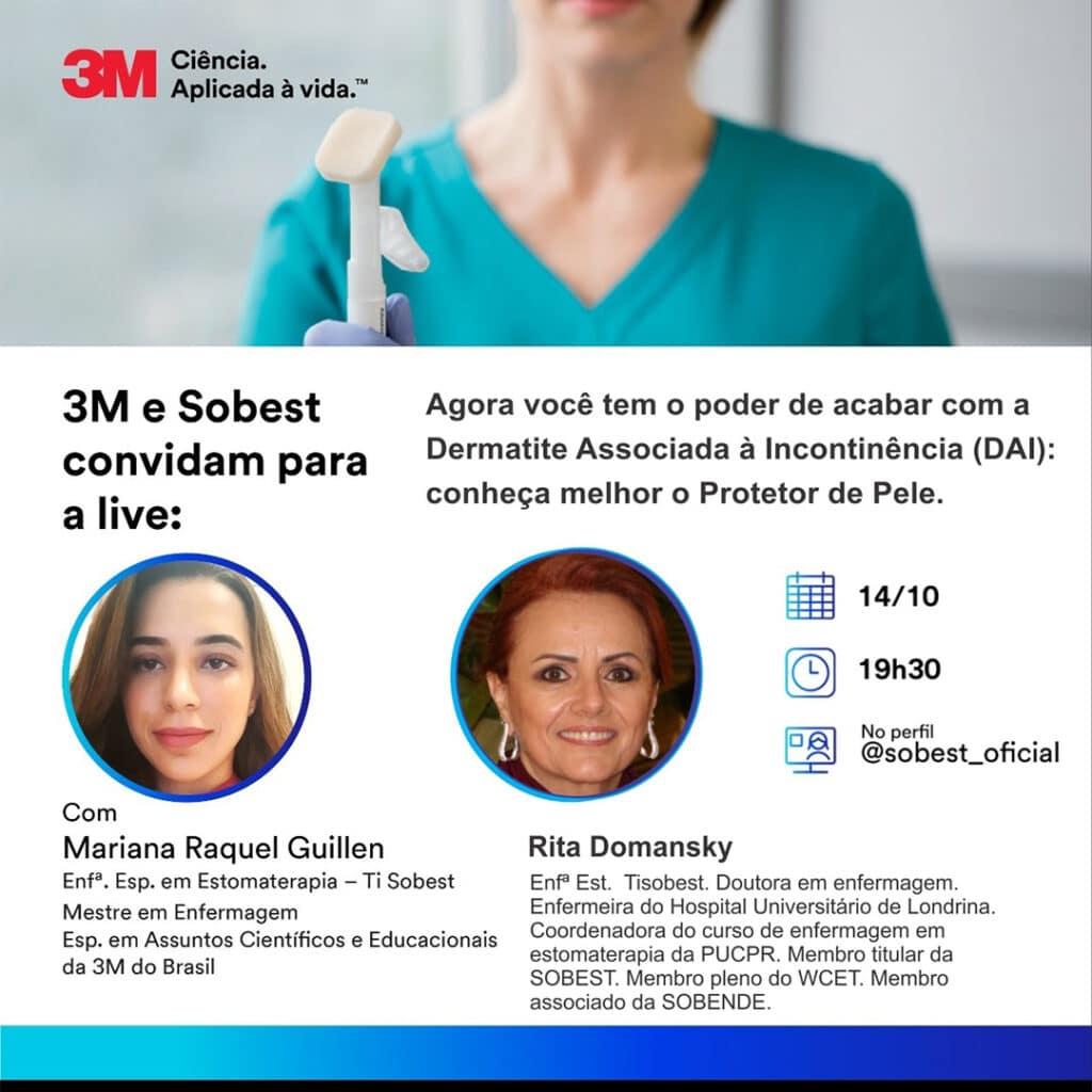 Live CPE Patrocinador 3M do Brasil - Demratite Associada à Incontinência