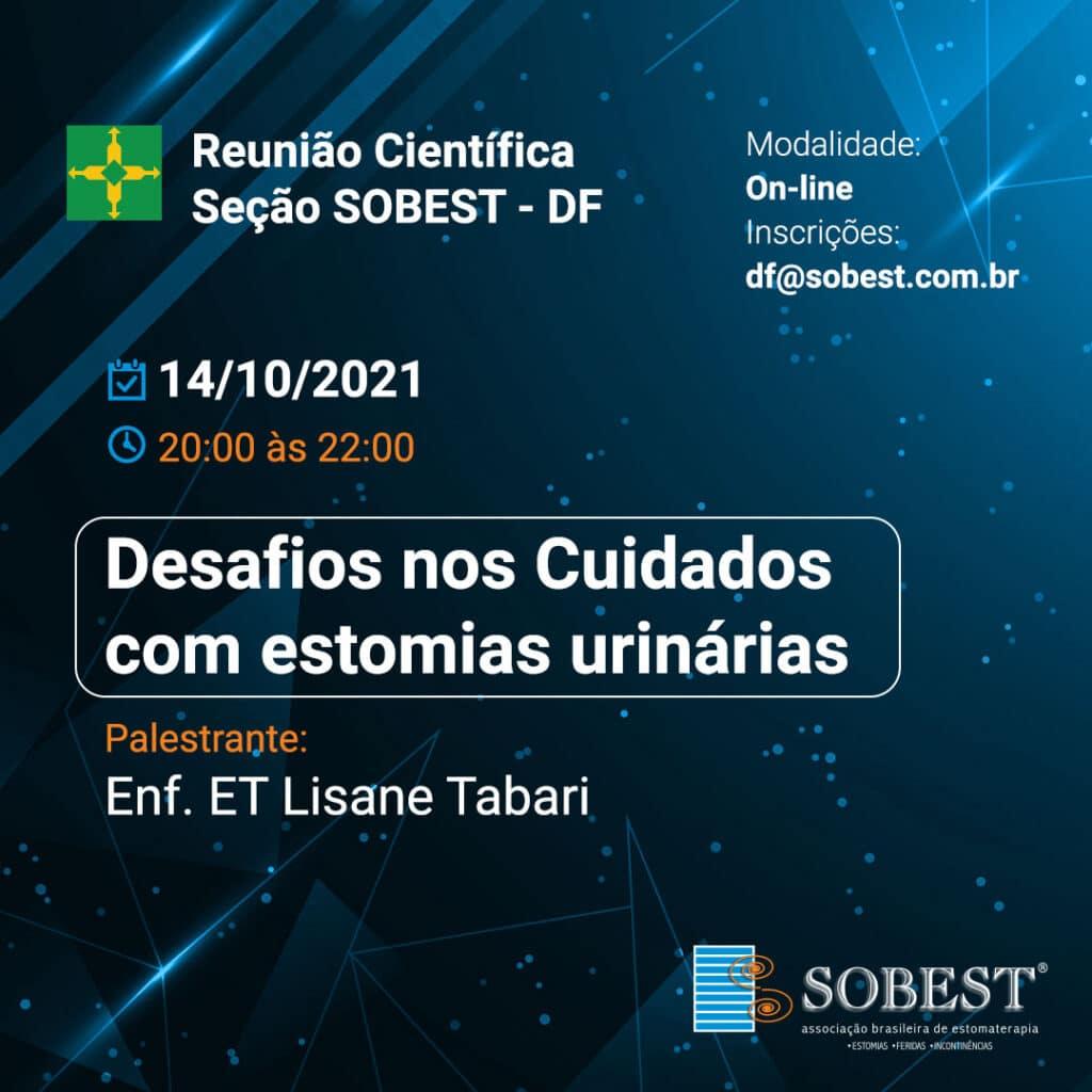 Reunião Científica SOBEST DF - Desafios nos Cuidados com estomias urinárias
