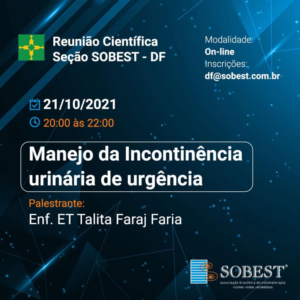 Reunião Científica SOBEST DF - Manejo da incontinência urinária de urgência