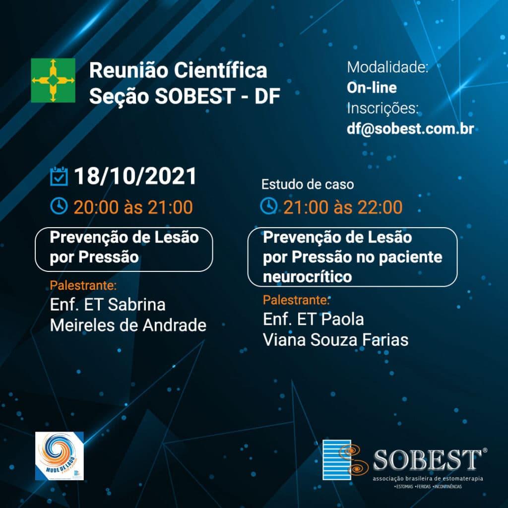 Reunião Científica SOBEST DF - Prevenção de Lesões por Pressão e Estudo de caso